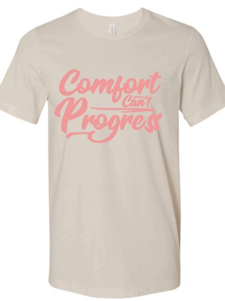Cream Comfort Can't Progress T-shirt
