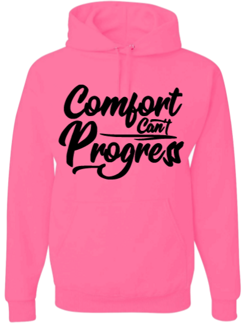 Pink and Black Comfort Can't Progress Hoodie