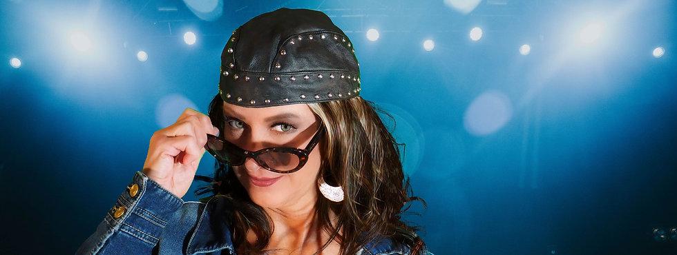 Rosalie Leather Cap Denim Jacket Up Close copy.jpg