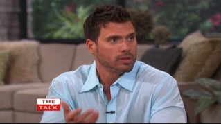 The Talk- Joshua Morrow spoofs Chris Brown's viral video