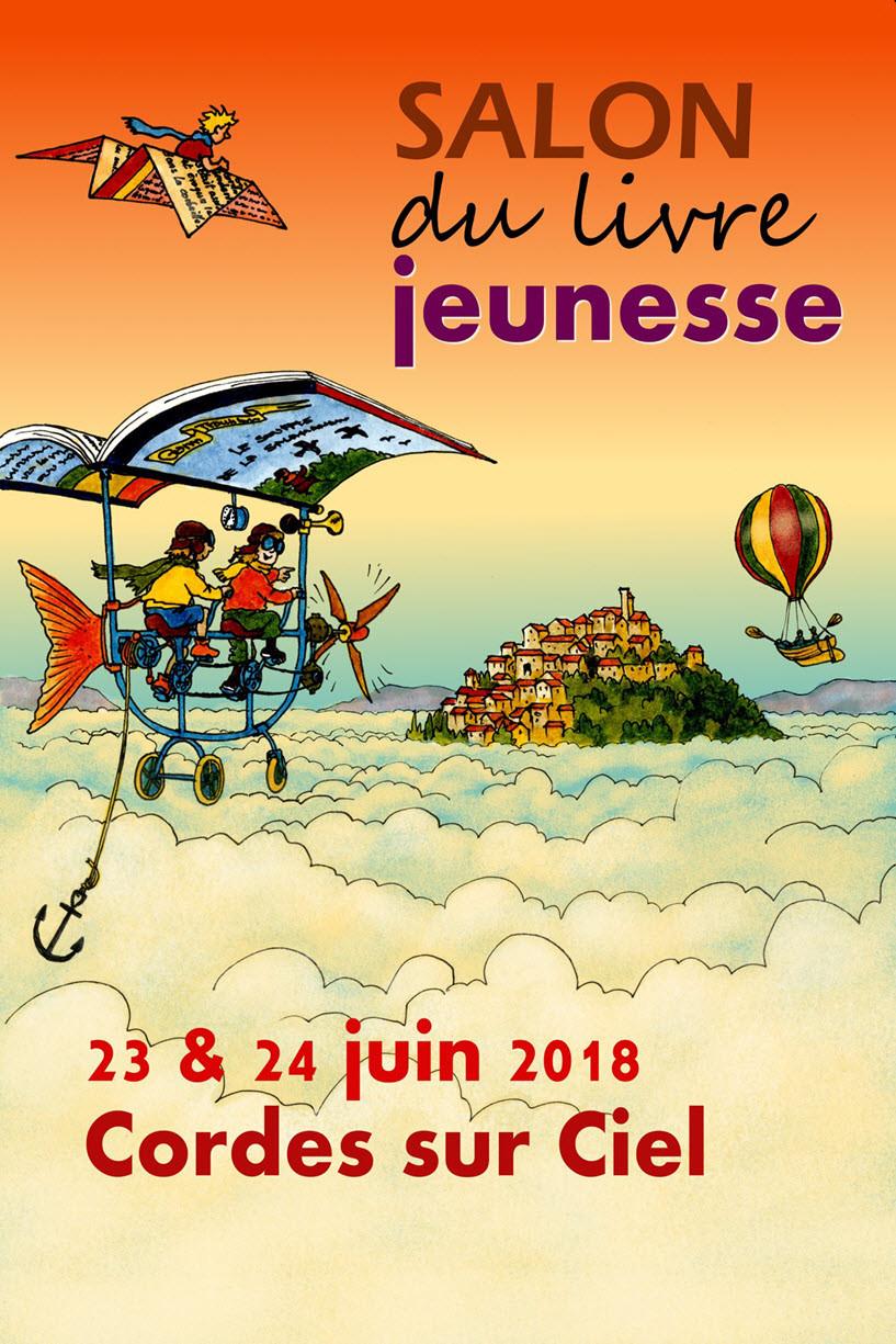 Salon du livre jeunesse à Cordes sur Ciel avec atelier cuisine parents/enfants à la table d'hôtes du Secret du Chat