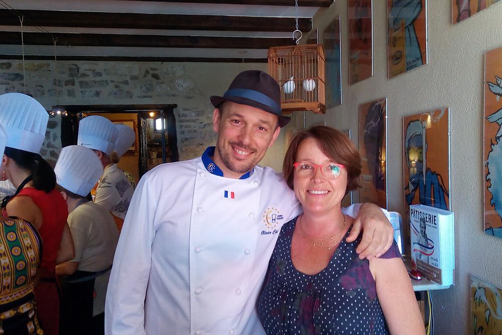 Le chef préféré des enfants, Olivier Chaput à Cordes sur Ciel pour le Salon du livre de cuisine, visite à la maison d'hôtes Le Secret du Chat