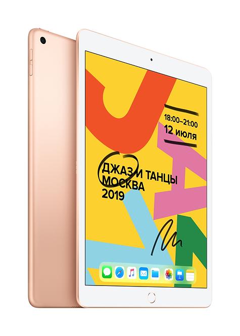"""iPad 10.2"""" Wi-Fi+ Cellular 32ГБ, золотой"""