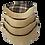 Thumbnail: Country Check Oval Foam Wall Basket (Nests 50cm,60cm,70cm,75cm)