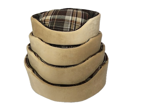 Country Check Oval Foam Wall Basket (Nests 50cm,60cm,70cm,75cm)