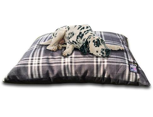 Check Cushion Dog Beds Various Sizes - Balmoral Brown Check