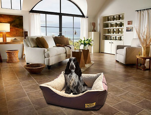 Sherpa Fleece Lined Memory Foam Dog Bed Various Sizes - Colours