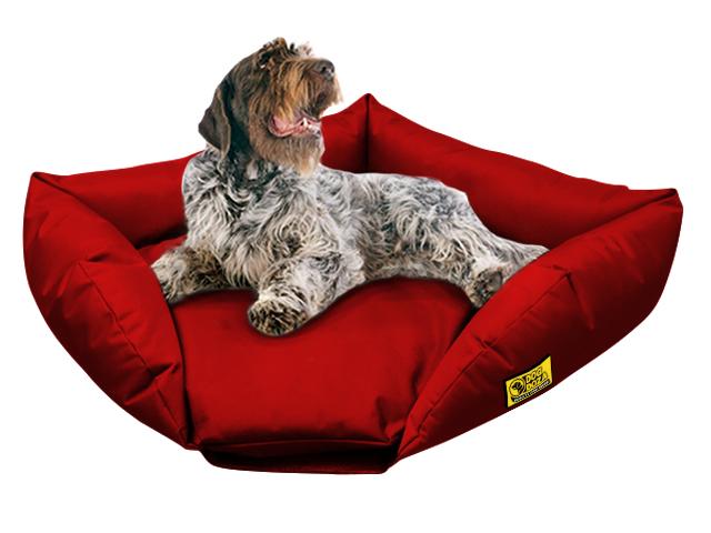 dog doza sofa corner bed red 1