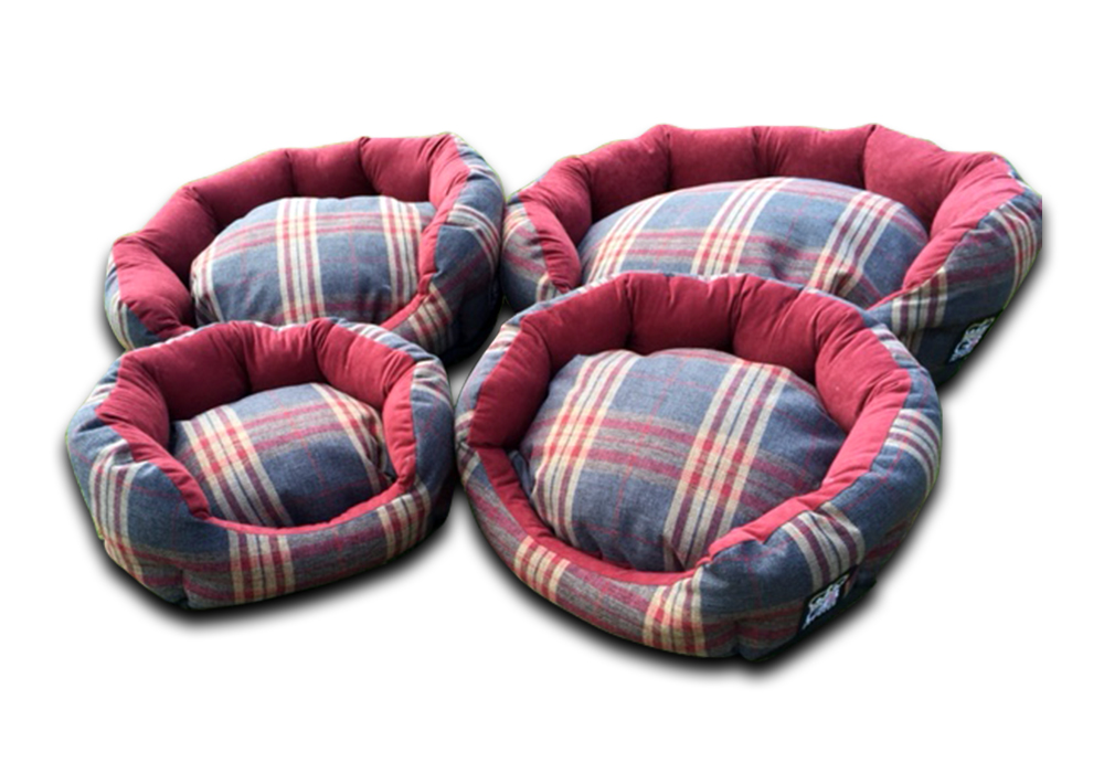 deluxe oval dog bed granite check uk