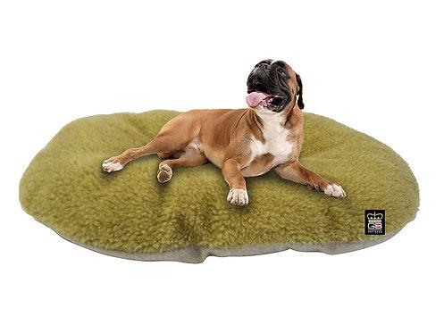 Oval Dog Cushion in Oatmeal & Beige Fleece Various Sizes