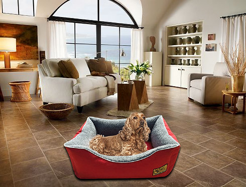 Sherpa Fleece Lined 7cm Memory Foam Dog Bed Various Sizes - Colours