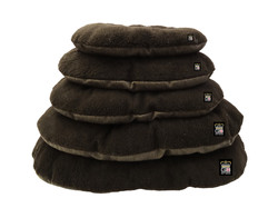GB Pet Beds - Nest Oval cushions in truffel and dark brown fleece