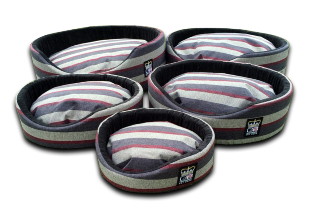 oval foam wall dog basket gb pet beds granite stripe uk