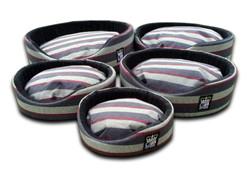 oval foam wall dog basket gb pet beds granite stripe uk