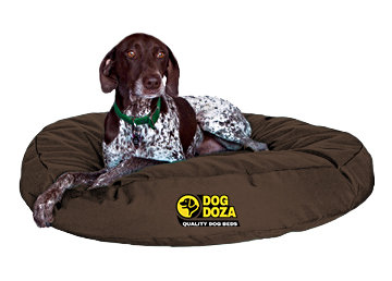 Waterproof Round Bed - 3 Sizes - Brown