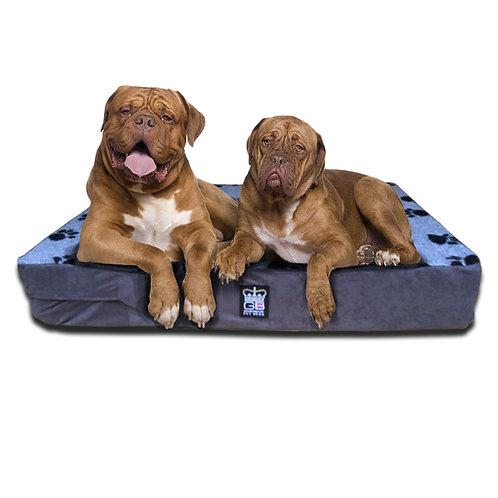 XL Memory Foam Dog Mattress Fleece & Faux Suede XL Size: 150cm x 80cm x 15cm
