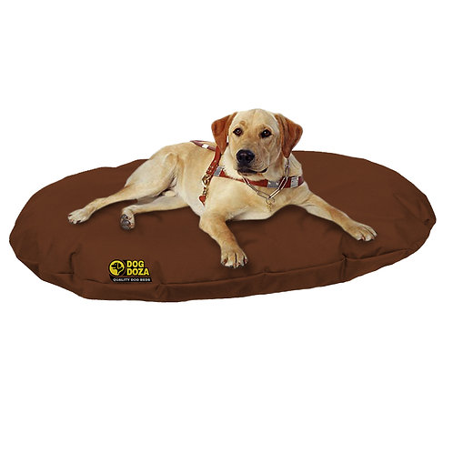 Waterproof Oval Memory Foam Crumb Bed Various Sizes - Colours