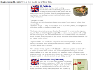 Pet Business World is Promoting Made in Britain Products and guess who's joined the listing?