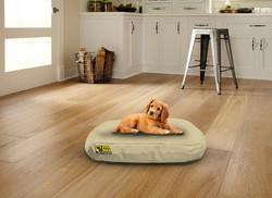 Waterproof Oval Bed Beige