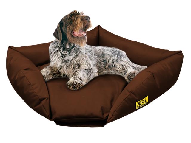 dog doza sofa corner bed brown 2