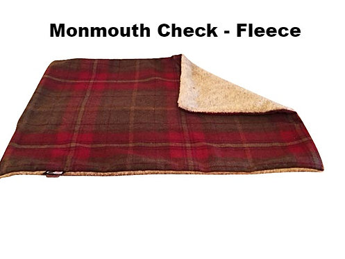 Quality Check Fabric & Fleece Dog Blankets - Various Colours - Sizes
