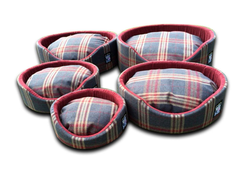 oval foam wall dog basket gb pet beds granite check uk set