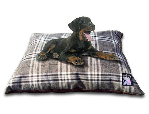 Check Cushion Dog Beds Various Sizes - Chatsworth Nutmeg
