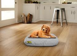Waterproof Oval Bed Grey