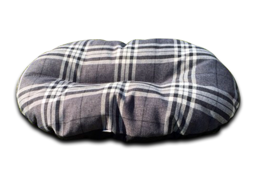 oval dog bed for baskets charcoal check uk
