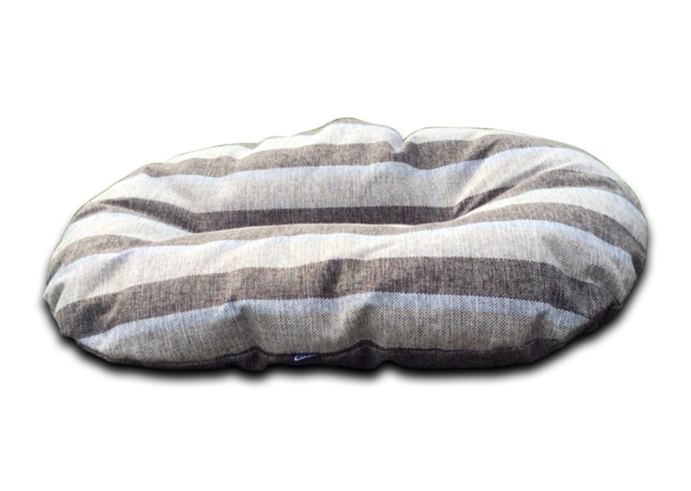 oval dog bed for baskets nutmeg stripe uk