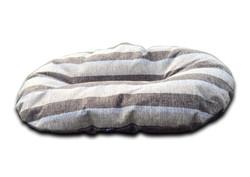 oval dog bed for baskets nutmeg stripe uk