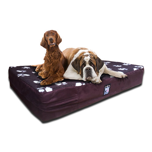 Memory Foam Dog Mattress Fleece Top Faux Suede Sides Various Sizes