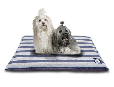 Dog Crate Travel Mat in Balmoral Stripe Charcoal Various Sizes
