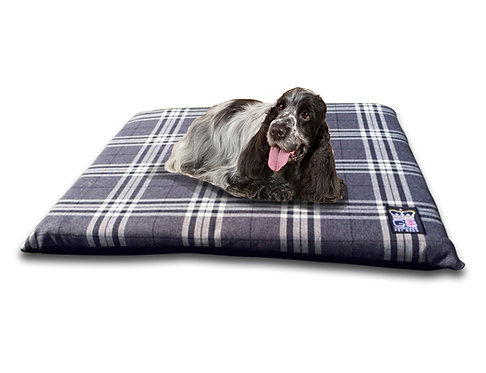 Country Check Crate Travel Mat 5 x Sizes Balmoral Charcoal