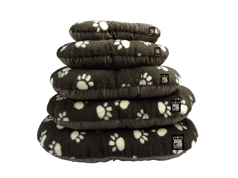 GB Pet Beds - Cotswold brown fleece