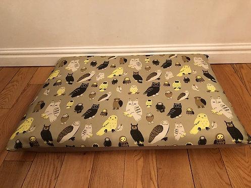 Nature Owls Crash Pad Bed 90cm x 70cm