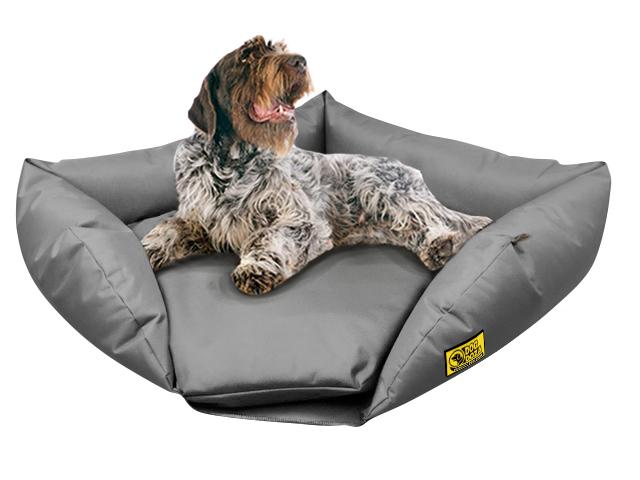 dog doza sofa corner bed grey 1