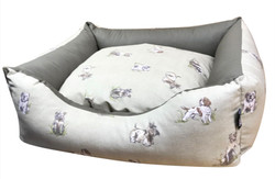 Country Dogs Settee