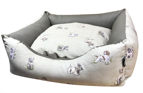 Country Dogs Settee 84cm x 69cm