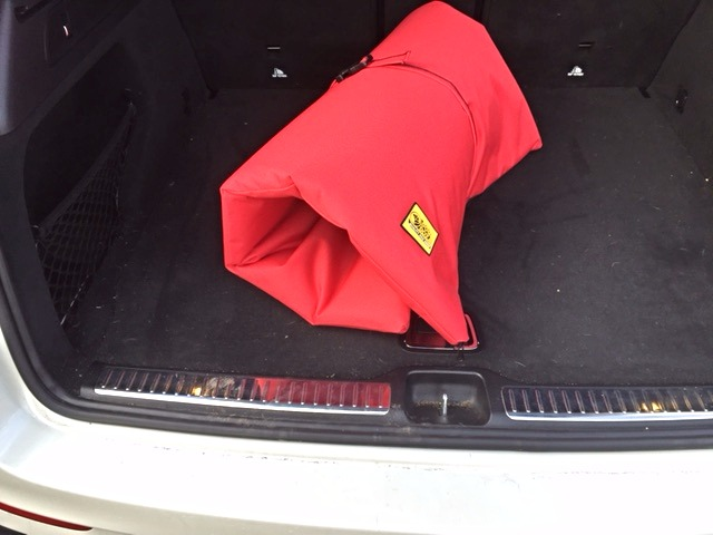 waterproof roll up dog travel mat red
