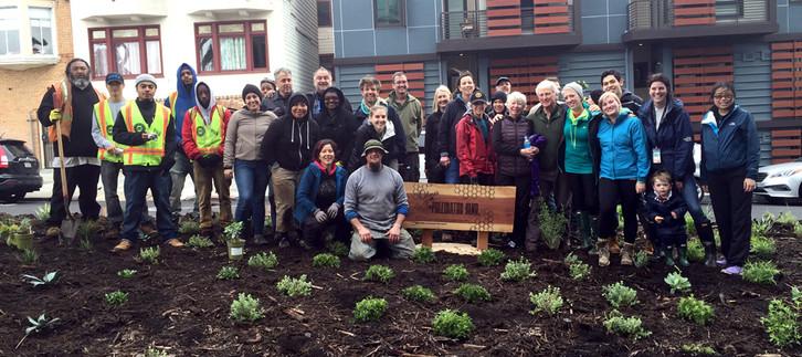 Dolores Pollinator Blvd: Planting day volunteers