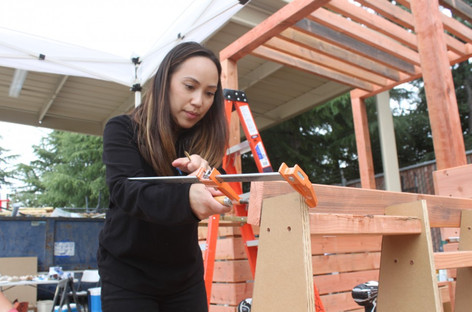 Bishop Ranch Parklet: Community build day