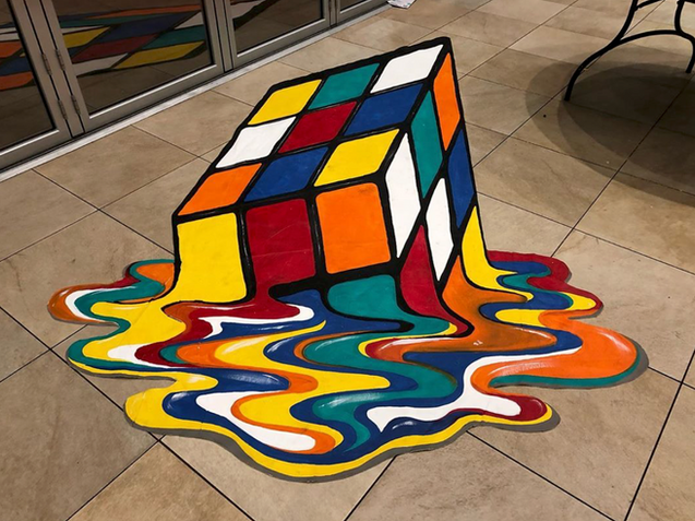 Melted Rubik's