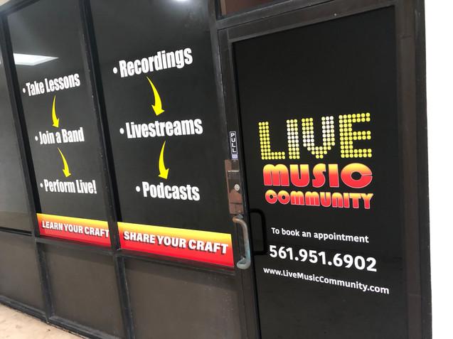 Door Vinyl Signage