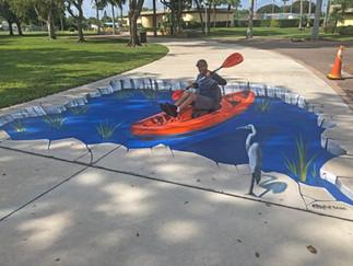 Kayaking on the Sidewalk