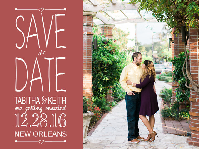 Save The Date Post Card (front)