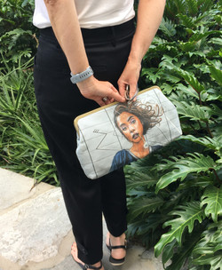The Spray Painted Lady Clutch
