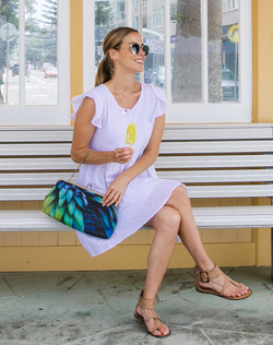 The Feathers Clutch Purse