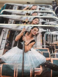 Ballerina on the Metro Clutch