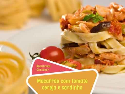 Receita: Macarrão com tomate cereja e sardinha